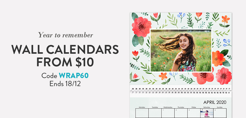 Wall Calendars from $10