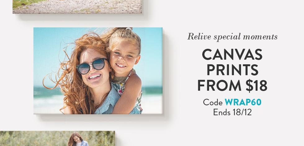 Canvas Prints from $18