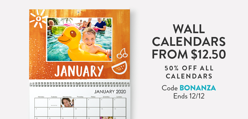 Wall Calendars from $12.50