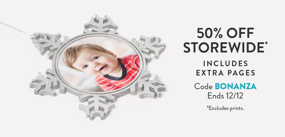 50% off storewide*