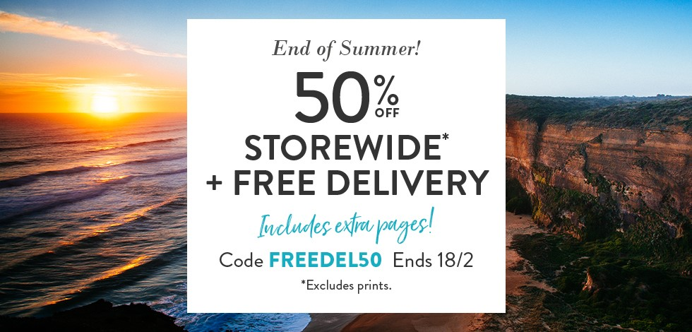 50% Off Storewide + Free Delivery (*excludes Prints)
