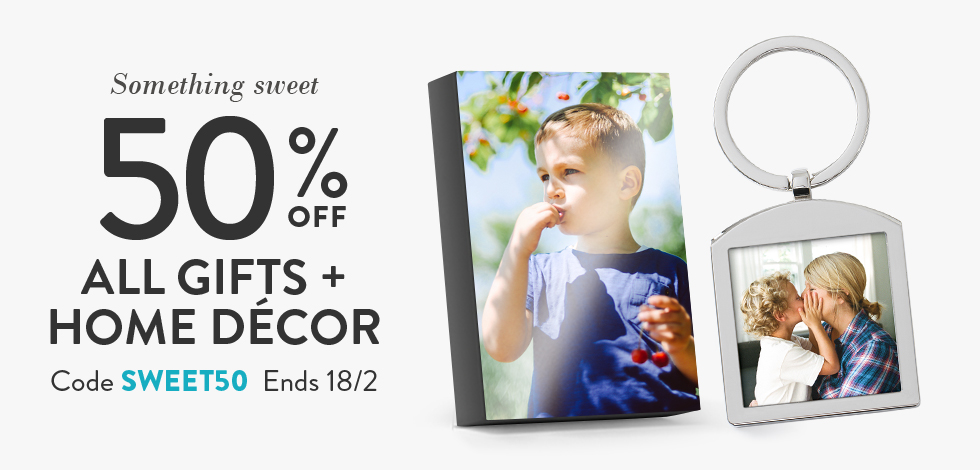 50% off Gifts & Home Decor