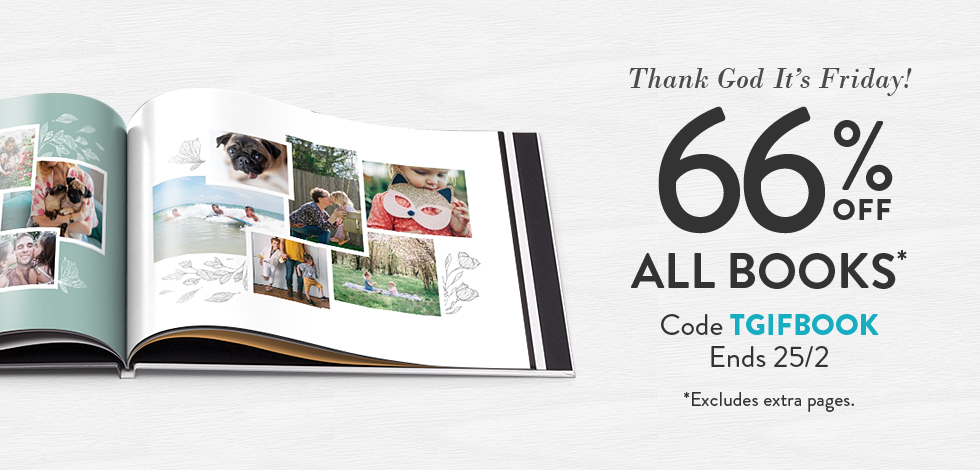 66% off all Photo Books*