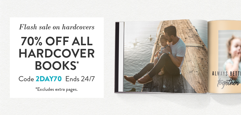 70% off all Hardcover Books*