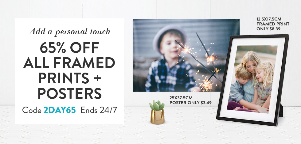 65% off all Framed Prints & Posters