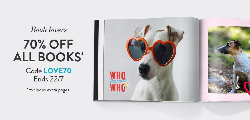 70% off all Photo Books