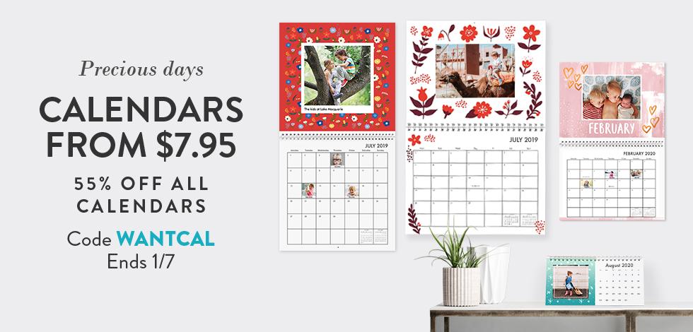 55% off all Calendars