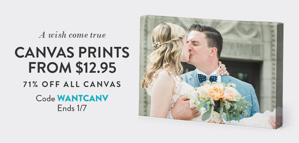 71% off all Canvas Prints