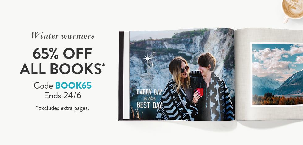 65% off all Photo Books