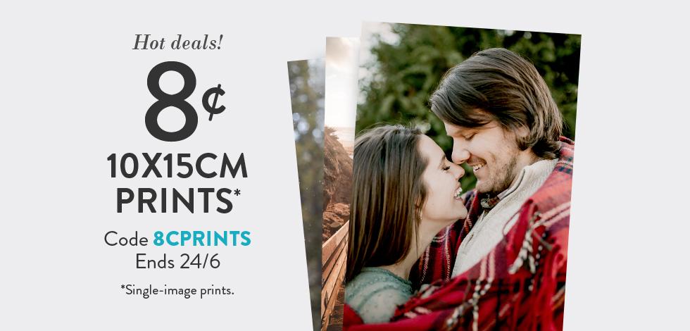 """8 cent 10x15cm (4x6"""") Prints"""