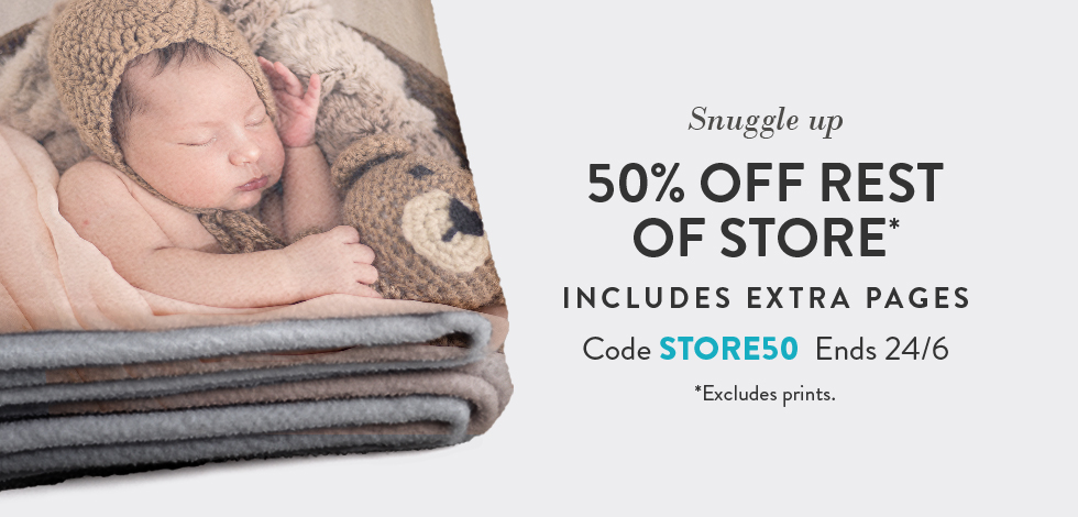 50% off Storewide (*excludes prints)