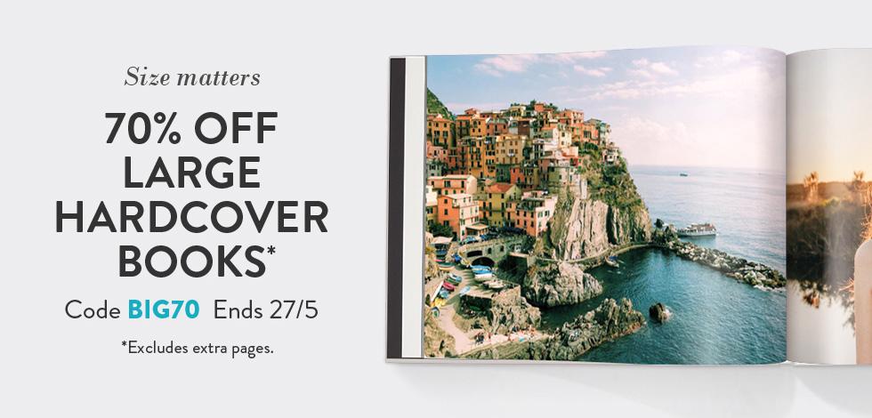 70% off Large Photo Books*