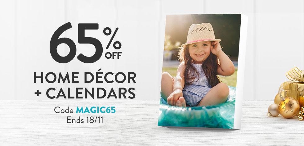 65% off Home Decor and Calendars