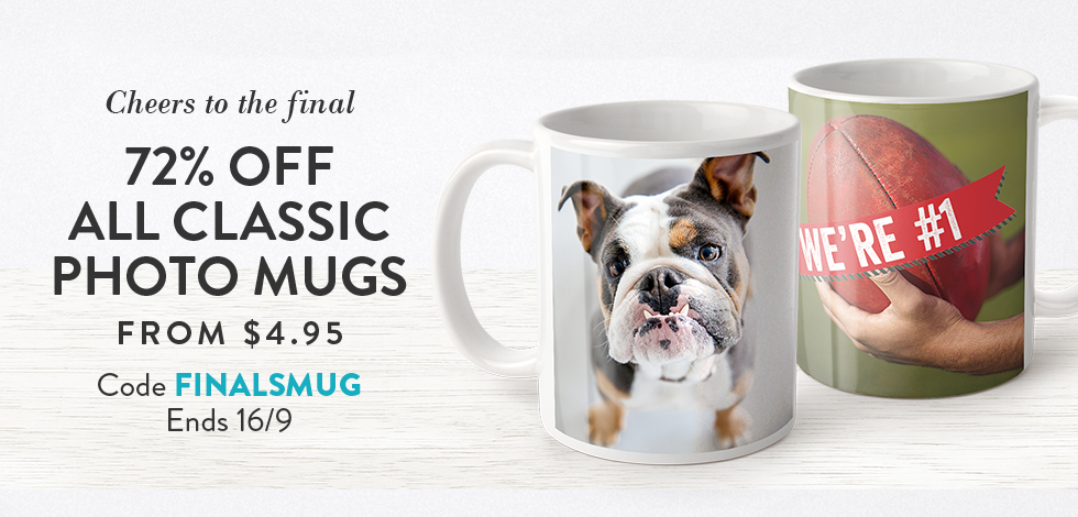 72% off all Classic Mugs