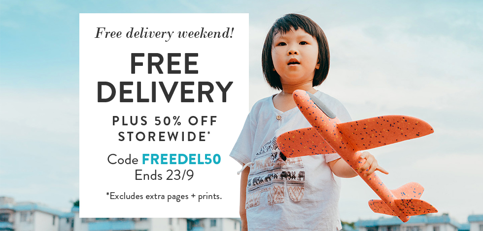 50% off storewide + free delivery*