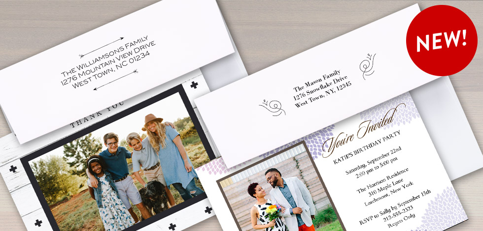 NEW! RETURN ADDRESS PRINTING WITH DESIGNS
