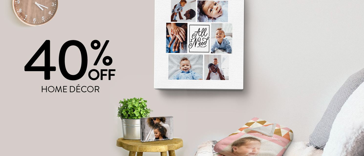 40% off Home Décor!