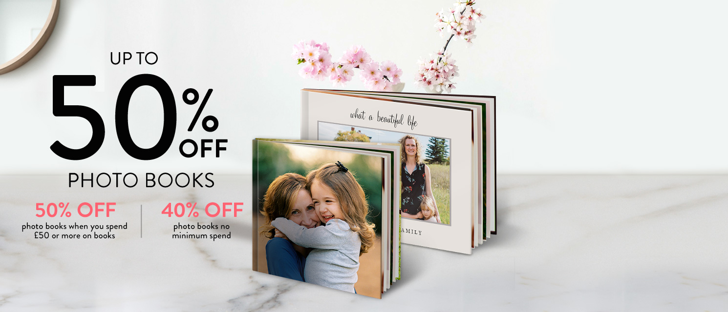 Create something special : Get creative with your family's magical moments!Use code BOOK420 by 5/4.