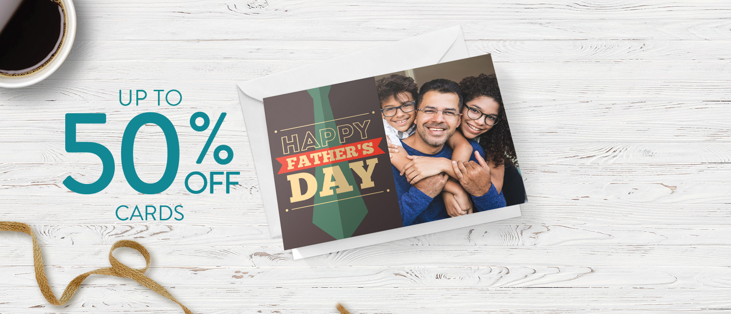 Up to 50% off Cards!