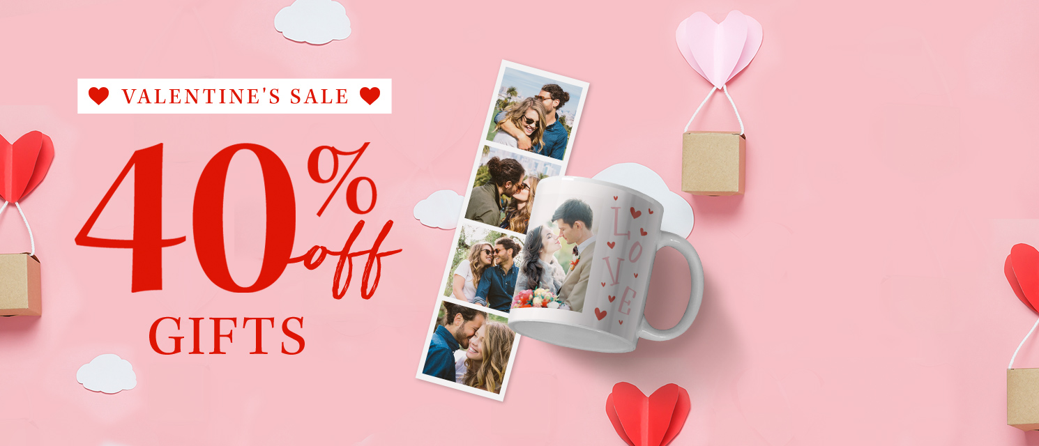 Sweettreats : Save 40% on all photo gifts!Use codeLOVE120 by 26/01.