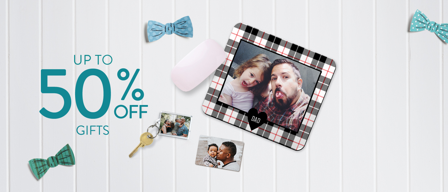 Up to 50% off Photo Gifts!
