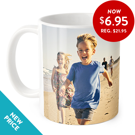 Coffee mug with full wrap photo image