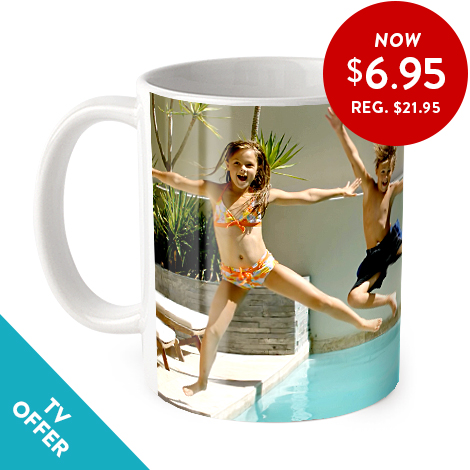 Coffee mug with a personalised photo added