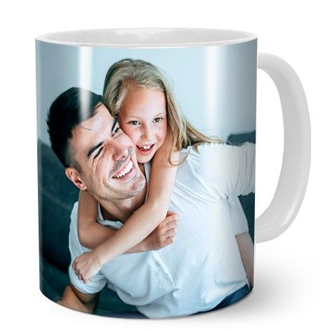 Image of a dad with a child on a photo mug