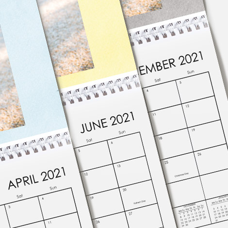Start from your calendar from any month of the year