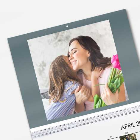 Our calendars are printed on high quality 250gsm paper which means your calendar has a beautiful professional finish.