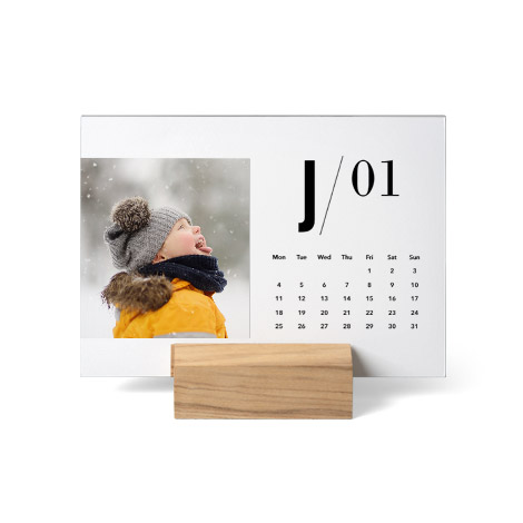 Wood Block Desk Calendar
