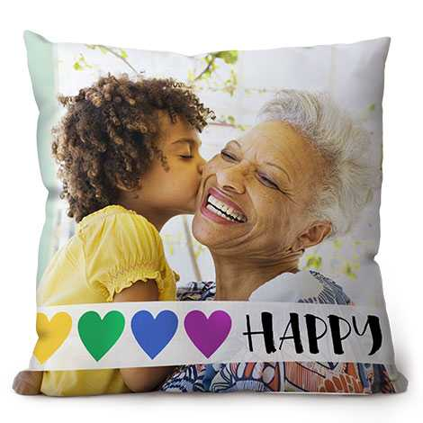Cushion grandma and grandson
