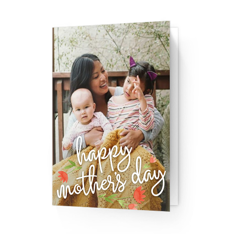 Mother's Day Floral Overlay card