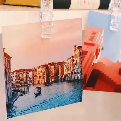 square print with scene of Venice