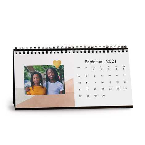 Dip Dye Desk Calendar