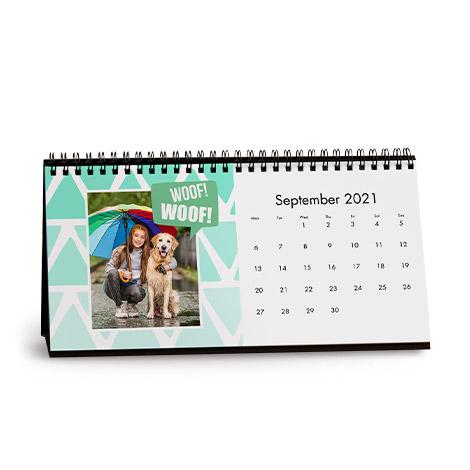 Geo Pastels Desk Calendar