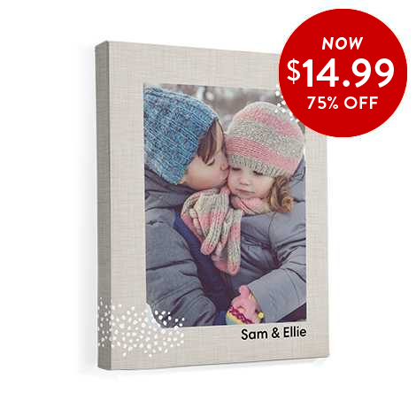 75% off 11x14 Canvas Prints