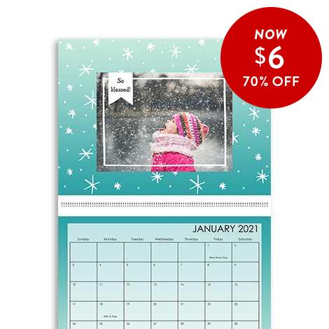 70% of 8.5x11 Wall Calendars