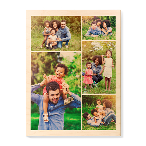 Personalized 16x20 Maple Wall Photo Panel