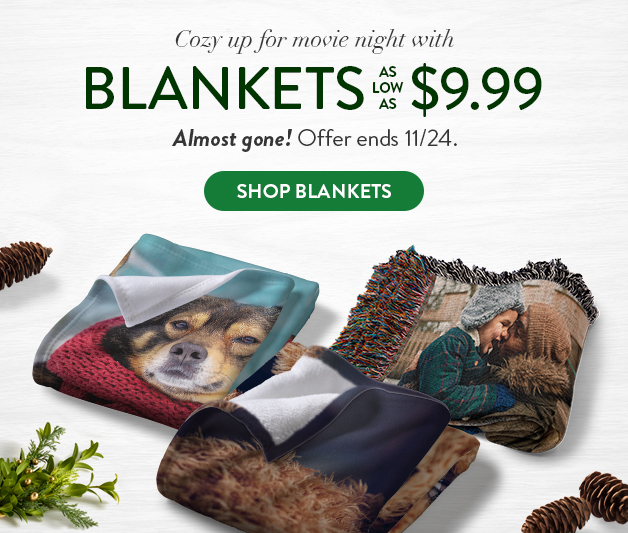 Photo Blankets as low as $9.99