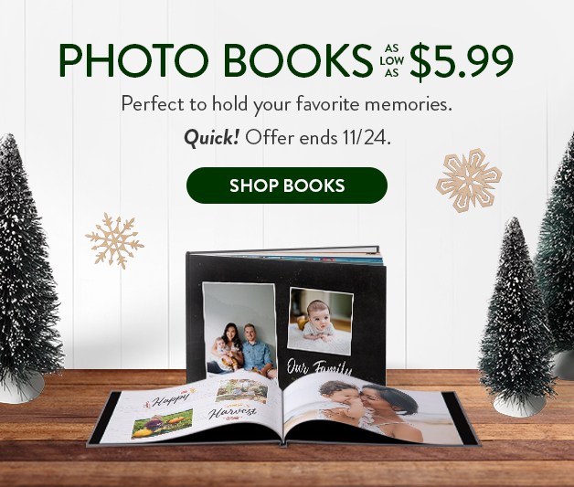 Photo Books as low as $5.99