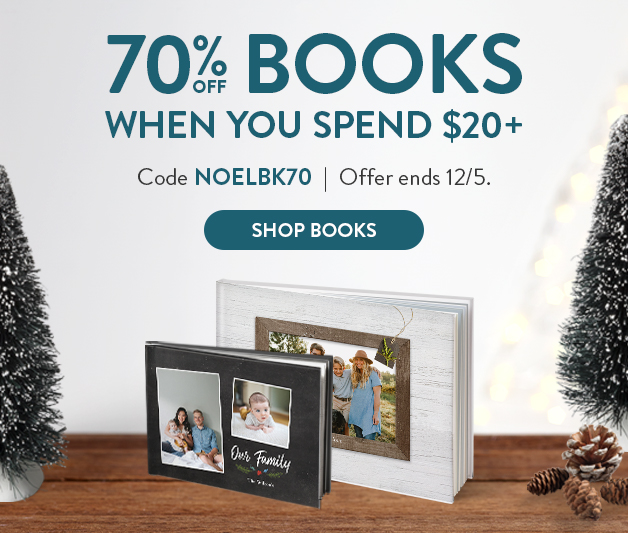 70% off $20+ Photo Books