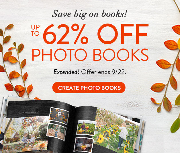 Up to 63% off Photo Books