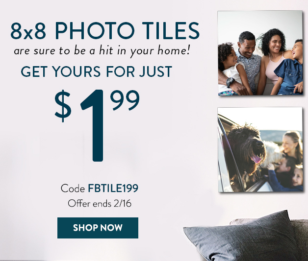 8x8 Photo Tile for only $1.99