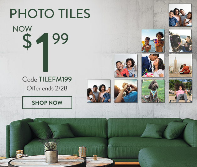 8x8 Photo Prints for only $1.99 each