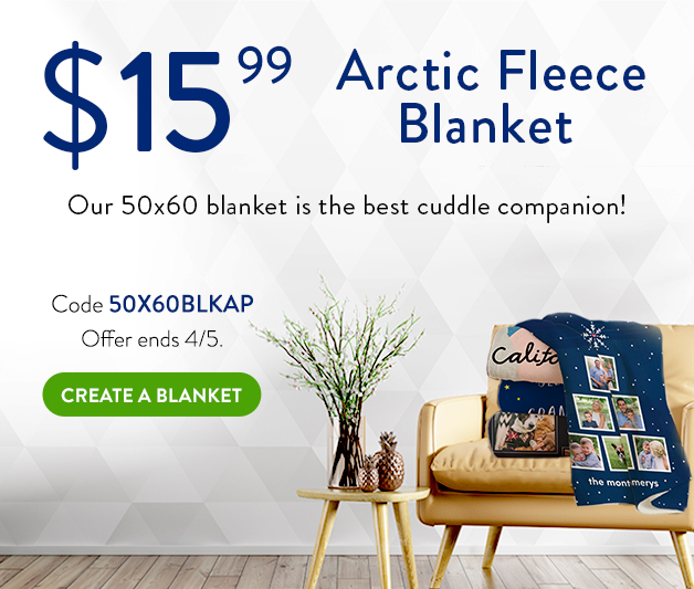 50x60 arctic fleece blanket for $15.99