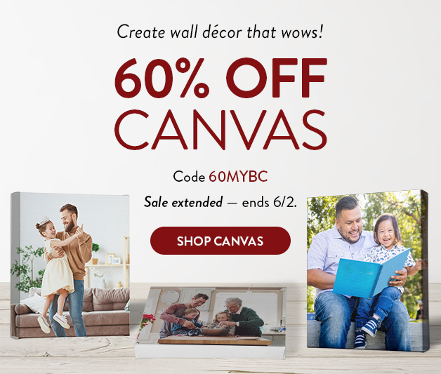 60% off Canvas Prints