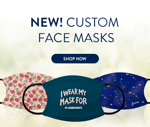 New! custom face masks