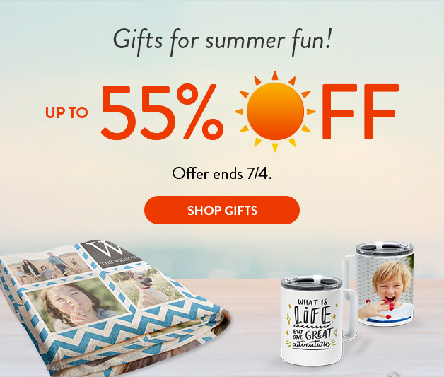 Up to 50% off select gifts