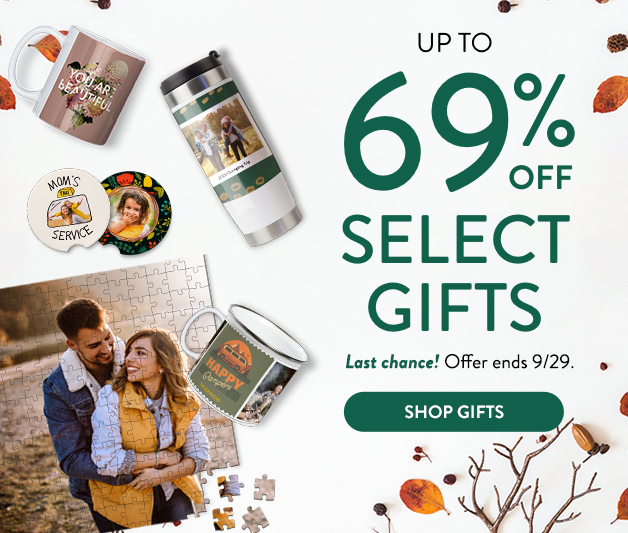 Up to 69% off Select Gifts